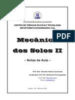 Mec-Nica Dos Solos II - Notas de Aula