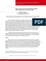 Increasing U.S.-China Strategic Trust - NCUSCR Conference Paper by Phillip C. Saunders