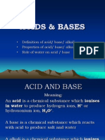 Chapter 7 (Acids & Bases)