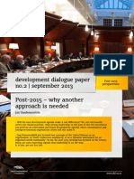 Post-2015 – why another approach is needed  | Development Dialogue paper on Post-2015 perspectives by Jan Vandemoortele
