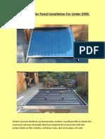 Home Made Solar Panel