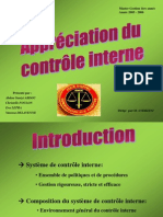Appreciation Du Controle Interne