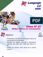 Clase LC 23 Medios masivos de comunicación