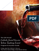 2013 Catholic Social Service Wine Tasting Program