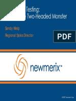 Newmerix - Taming PeopleSoft Testing