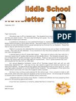 September 2013 Newsletter