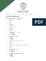 CNC Placement Test
