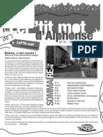 P'tit Mot d'Alphonse numéro 51 (Septembre 2013)