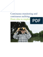 Monitoring and Continuous Auditing