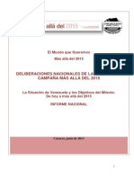 Informe Nacional Venezuela Beyond 2015