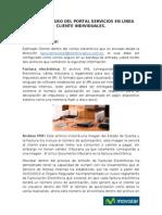 MANUAL DE USO DEL PORTAL SERVICIOS EN LÍNEA INDIVIDUALES 27mar13