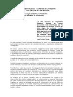 ESTUDIO MÉDICO LEGAL Y JURÍDICO DE LA MUERTE