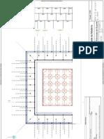 planta e cortes do dimensionamento de muro e fundaçoes