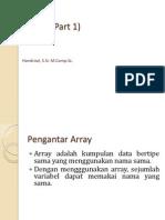 Materi Kuliah 15 - Array Part 1