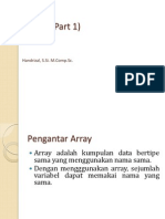 Materi Kuliah 15 - Array Part 1