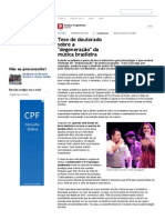 Tese de doutorado sobre a degeneração_da música brasileira