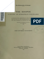 The Hoopoe - A Study in European Folklore by John Gotthold Kunstmann
