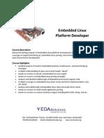 Introduction and Details of Embedded Linux Platform Developer Training Course