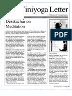 Desikachar on Meditation