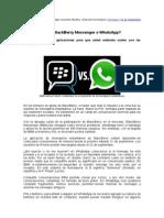 BlackBerry Messenger BBM vs WhatsApp