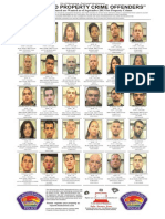 Most wanted property crime offenders - Sept. 2013