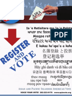 2008 Register and Vote Poster - multilingual