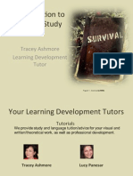 Intro to Degree Level Study 2013
