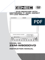 Zem-w800dvd de Uk