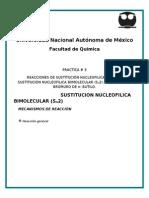 REACCIONES DE SUSTITUCIÓN NUCLEOFILICA ALIFATICASUSTITUCIÓN NUCLEOFILICA BIIMOLECULAR (S N 2)