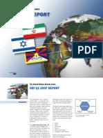 Anholt Nation Brands Index General Report 2007 Q1 - Most Improving Brands - Israel Iran Tibet New Dollar Valuations