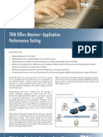 TRM Maximo Application Performance Testing Brochure