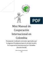 Mini Manual de Cooperacion Internacional en Colombia