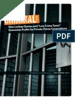 Criminal Lockup Quota Report