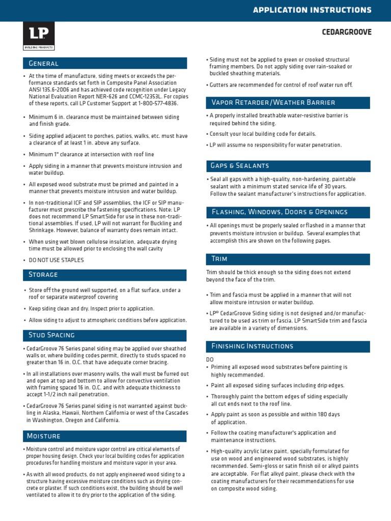 LPPrimedCedarGroovePanelInstallationInstructions pdf