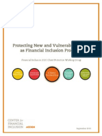 Protecting New and Vulnerable Clients as Financial Inclusion Proceeds