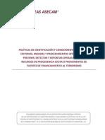 Politicas Identificacion y Conocimiento Del Cliente Art 112