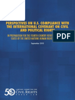 Perspectives on U.S. Compliance with the International Covenant on Civil and Political Rights