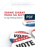 Election Assistance Commission Voter Guide Tagalog