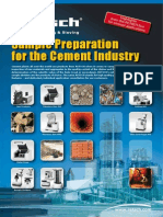 Preparación de muestras para industria del cemento