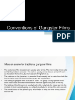 Marcus Woolley Conventions of Gangster Films