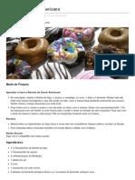Showdereceitas.com-Receita de Donut Americano