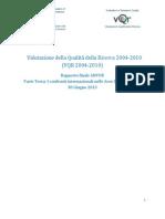 VQR2004-2010 RapportoFinale Parteterza ConfrontiInternazionali