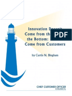 Innovation Starts With Customers