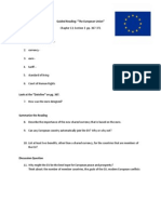 Guided Reading European Union Ch. 13 Section 3