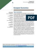 "Credit Suisse, European Economics, Sep 13, 2013. ""Taper Transmissoin""."