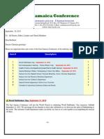 Communication Advisory #141 for Sep 21 - 2013