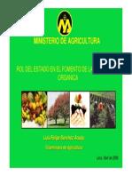 Rol Del Estado en La Produccion Organica Minag
