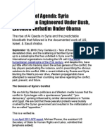 Continuity of Agenda - Syria Catastrophe Engineered Under Bush, Executed Verbatim Under Obama