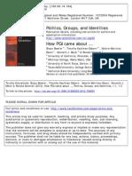 Políticas, grupos e identidades