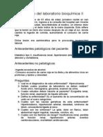 Caso clínico del laboratorio bioquímica II de tata
